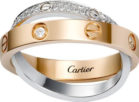 CRB4094600   LOVE ring, diamond paved   Pink gold, white