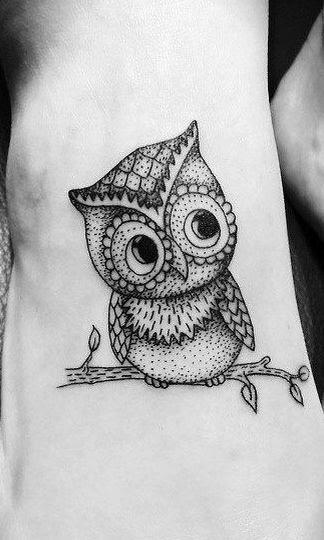 Black And White Owl Tattoo Tattoomagz