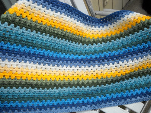 Granny Stripe Blues, Greens and Yellows1 by EMCphotos