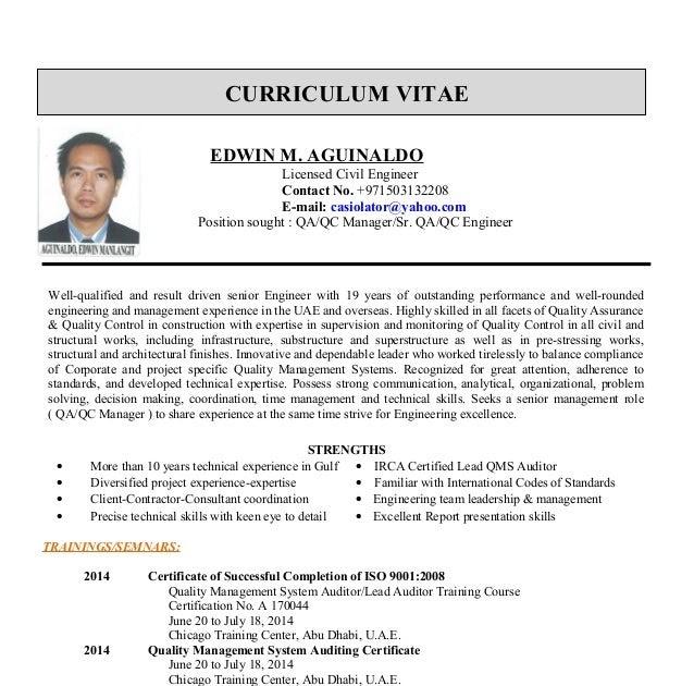 Contoh Cv Qc Inspector Br1m Online