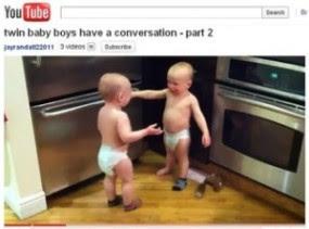 Video Bayi Kembar 'Ngobrol' Menggemparkan Dunia Maya !!