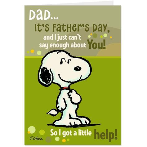 Peanuts® Snoopy Signs for Dad Pop Up Father's Day Card