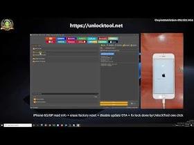 IOS iPhone 6G/6P Read Info + Fix Network Lock + Disable Factory Reset + Disable OTA By UnlockTool