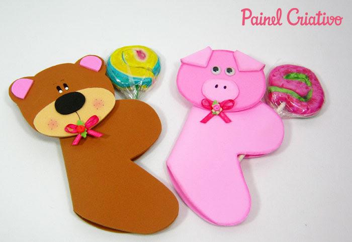 como fazer lembrancinha eva dia das criancas porta pirulito bichinhos leaozinho ursinho porquinho sapinho (2)