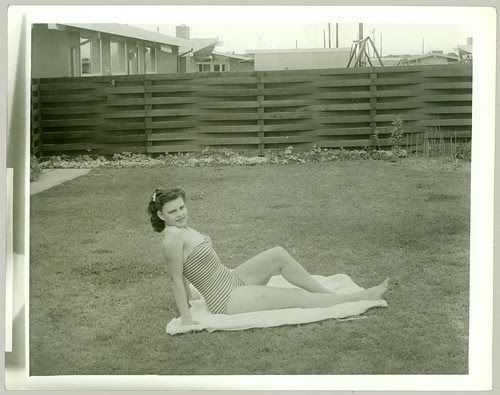 Backyard pinup
