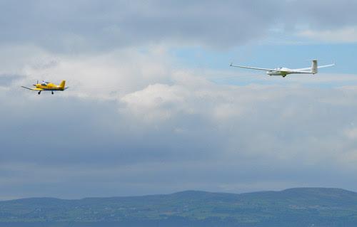 Glider and Tug Plane, Ulster Gliding Centre