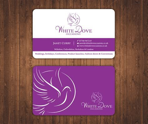 Elegant, Upmarket, Wedding Business Card Design for