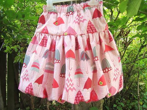 rainy days bubble skirt