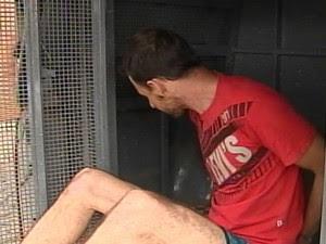 Spinardi foi levado para a Cadeia Pública Hildebrando de Souza nesta quarta-feira (28) (Foto: Reprodução/RPC TV)