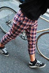 3018 Madras check cropped pants