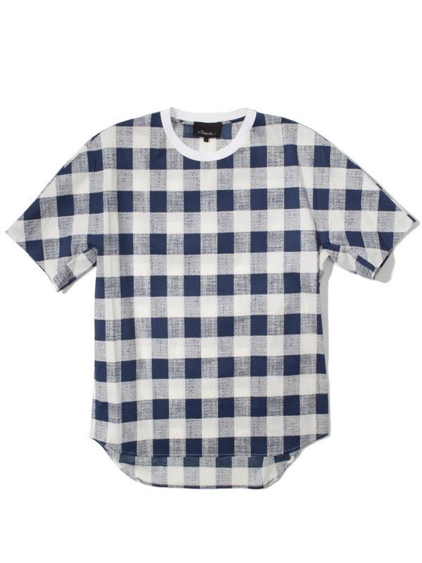 142-3.1-Phillip-Lim-Buffalo-Check-Dolman-Sleeve-T-Shirt