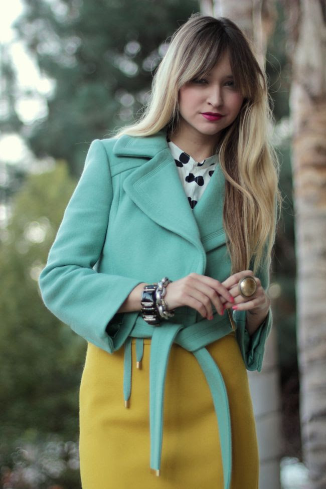 color combo mustard and mint