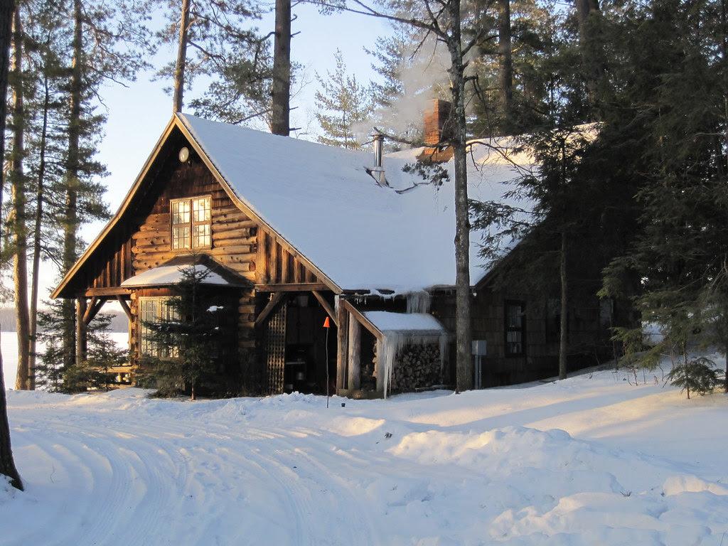 Adirondack camp, in morning