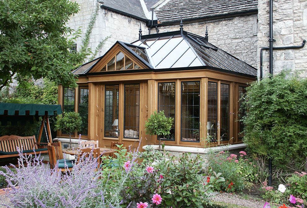 Conservatory with a natural finish
