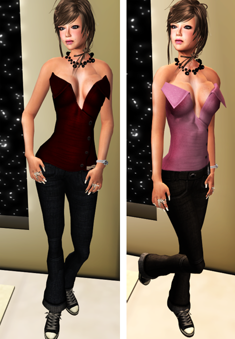 DeeTalez - NEW Tops Big Collar and Flared Jeans