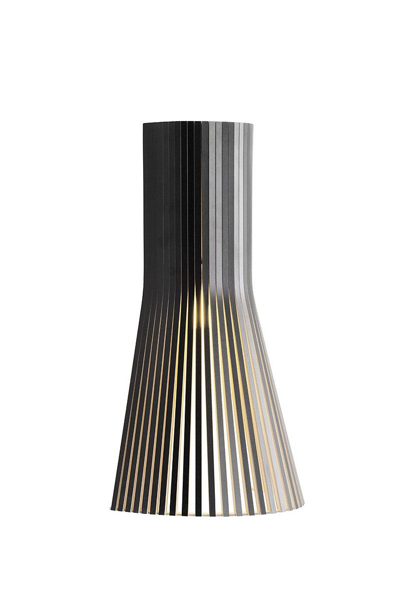 Petite Applique Design Scandinave Stratifié Noir Et Bois Massif