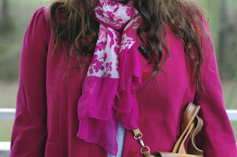 Große Größen Plus Size Fashion Blog F&F pink duffle coat