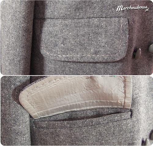 marchewkowa, szafiarka, żakiet, lata 50, tweed, szycie, kieszenie wpuszczane z klapką, Burda 9/2007, retro, vintage