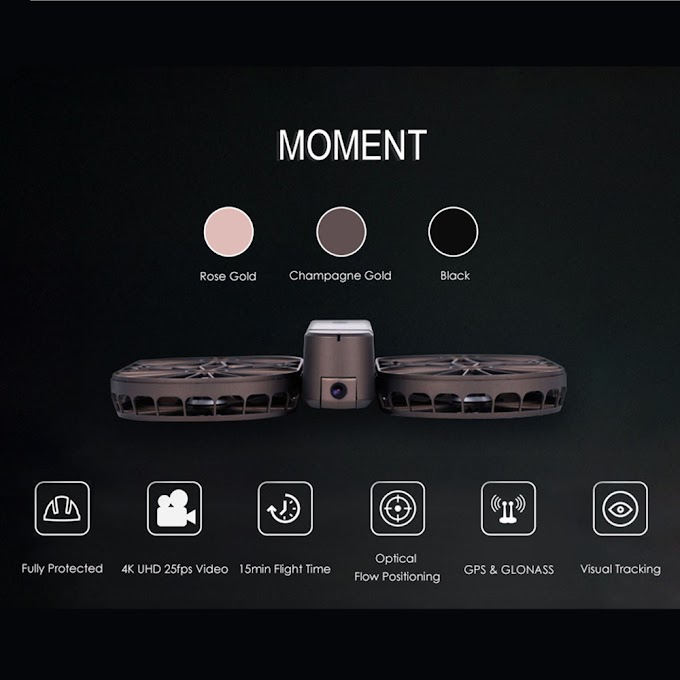 SIMTOO MOMENT Foldable Selfie Drone Brushless BNF WiFi FPV 12MP 4K UHD RC Quadcopter GPS GLONASS Optical Flow Camera Drone