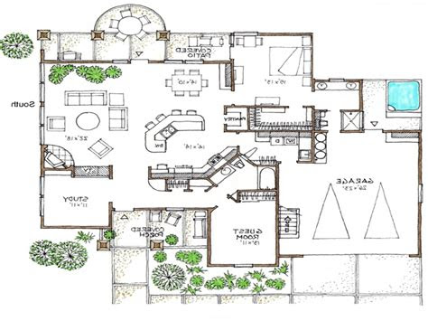 open floor plans  story space efficient house plans