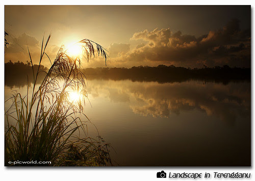 sunrise beside the river at dawn picture