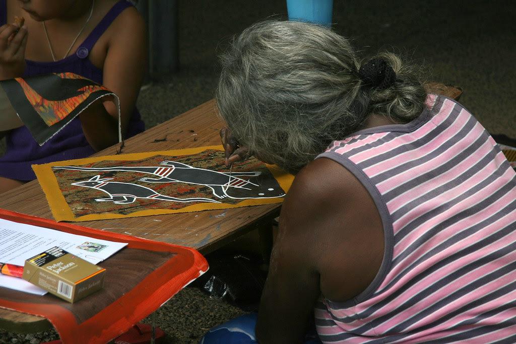 Artist at Parap Market