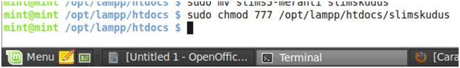 Install SLiMS di Linux cd opt downloads Install SLiMS di Linux ubah jak akses
