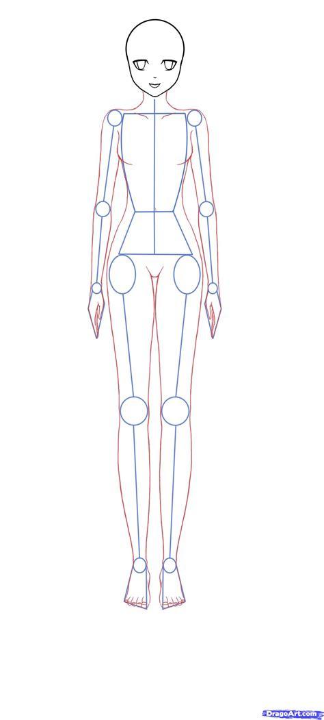 draw anime bodies step