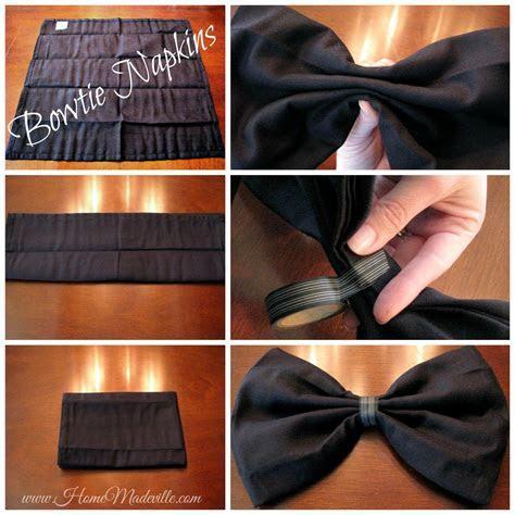 Wedding Craft Lightning: How to Fold a Bowtie Napkin