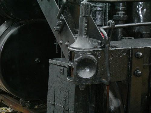 locomotive push pole dimple close up