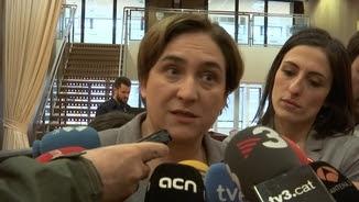 Ada Colau s'ha mostrat indignada amb la posició de Rajoy en relació amb els refugiats que vol acollir Barcelona