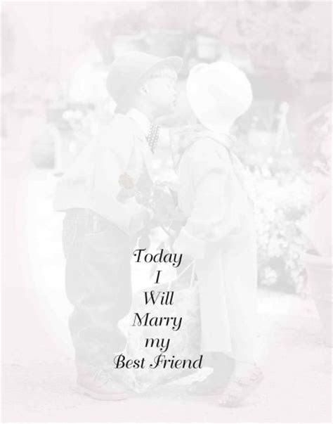 Today I will marry my best friend invitation