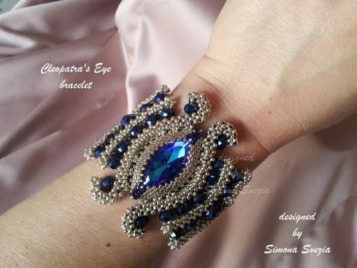 "Perline e Bijoux: Tutorial fotografico del bracciale ""Cleopatra's Eye"""