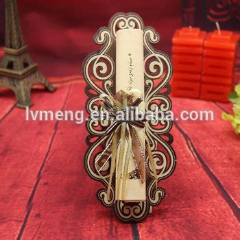 Scroll Wedding Invitations Card Manufacturer With Metal