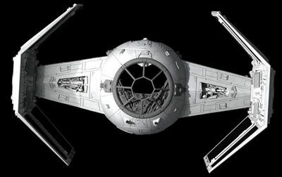 Darth Vader's TIE Fighter from STAR WARS: EPISODE IV - A NEW HOPE.