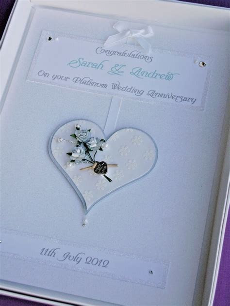 Personalised Platinum/China 20th Wedding Anniversary Card