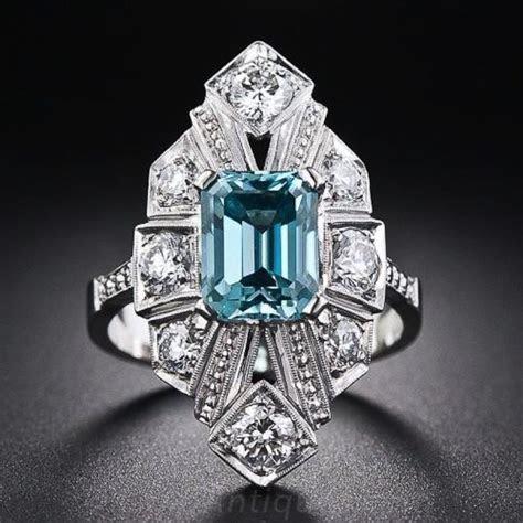 Vintage Zircon Art Deco Jewelry    December Birthstone