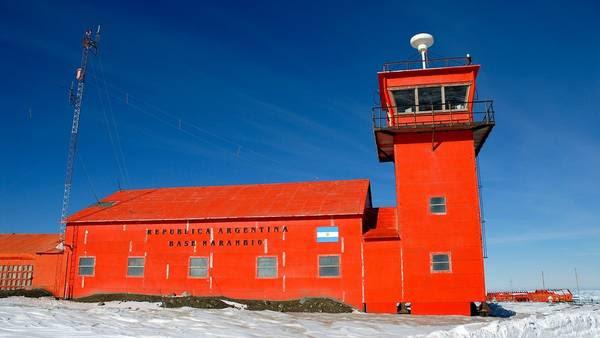 La Base argentina Marambio, en la Antártida, en febrero de 2016. Foto:Ministerio de Defensa de Argentina/dpa