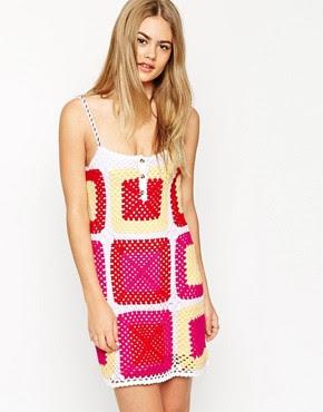 Image 1 ofASOS Sundress In Patchwork Hand Crochet