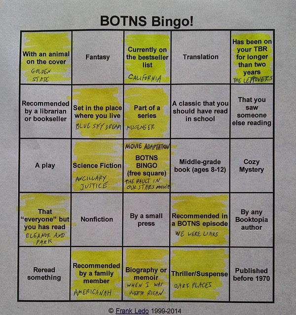 BOTNS Bingo - July