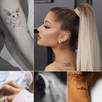 Comprehensive Guide to Ariana Grande's Chic Tattoos — From the Pete Davidson Cover-Ups to Dainty Finger Tats