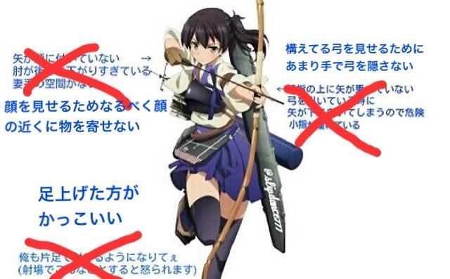 論争アニメ艦これ加賀さんの弓の構えに対しての弓道部の指摘に対し