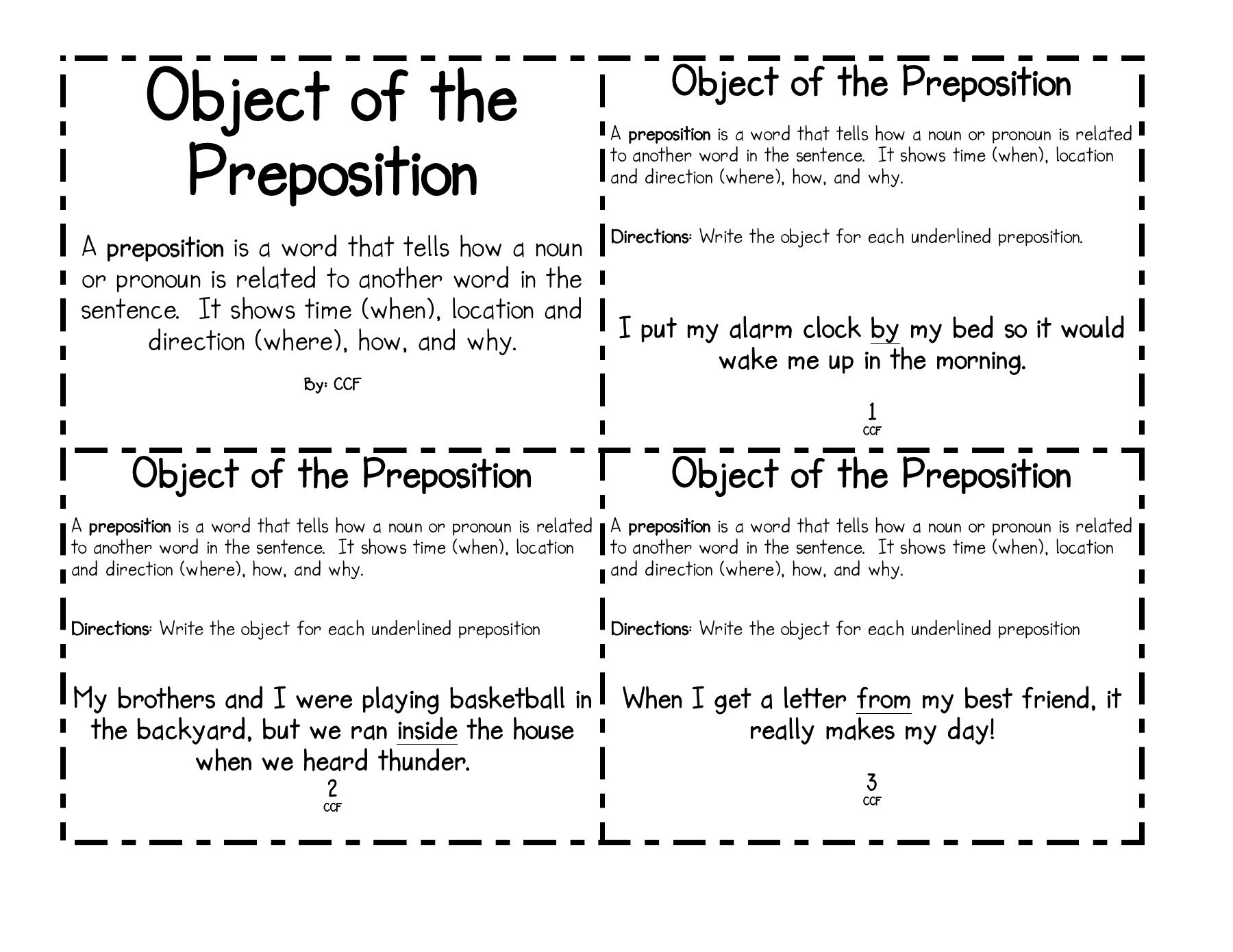 Object Of The Object Of The Preposition Preposition Pages 1 7