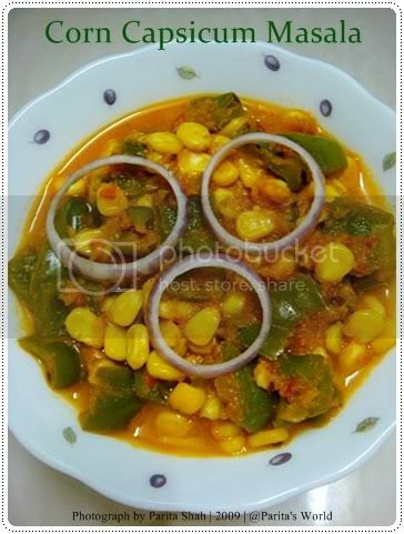 Sweet Corn,Bell Peppers,Indian Curry