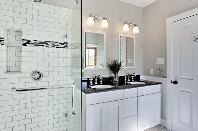 Bathroom Design Ideas white bathroom design with subway ...