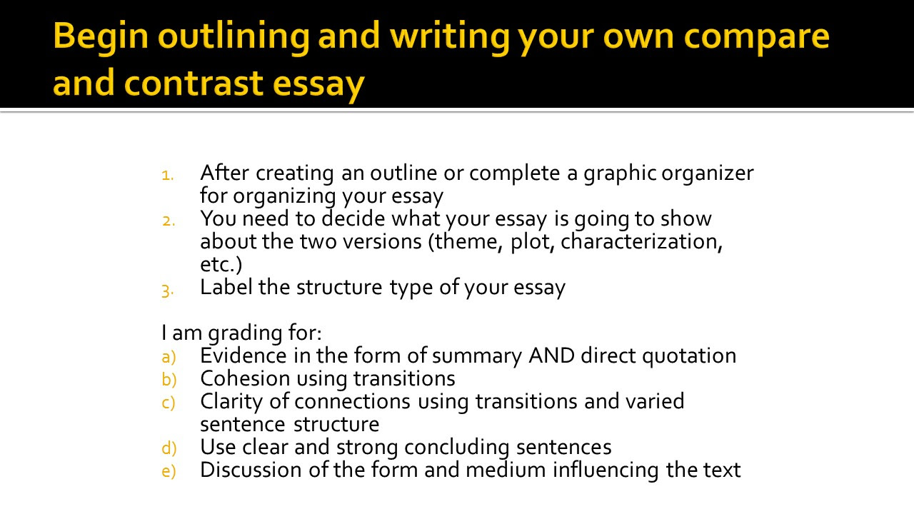 writing a compare and contrast essay usa columbia