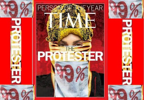 protester assemblage from time and jl by jim leftwich