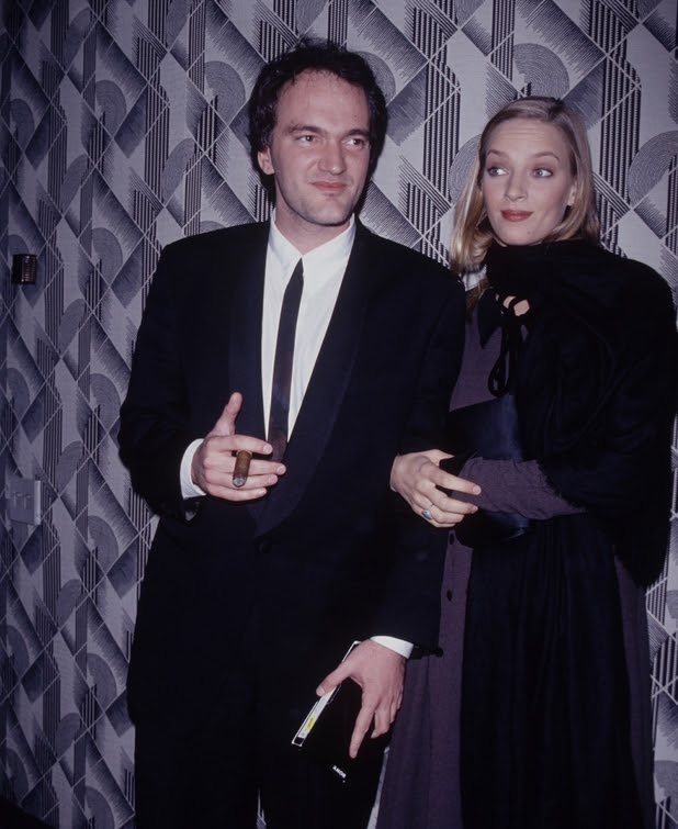 UNITED STATES - Director Quentin Tarantino with actress Uma Thurman, circa 1994. (Photo by Time & Life Pictures/Getty Images)