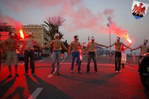 Après Paris Nantes Caen Rennes Versailles, c'est au tour de Nice de voir émerger les hommen dans les rues! http://www.nicematin.com/nice/video-anti-mariage-pour-tous-premiere-manifestation-des-homen-a-nice.1223510.html  On lâche rien, Hommen