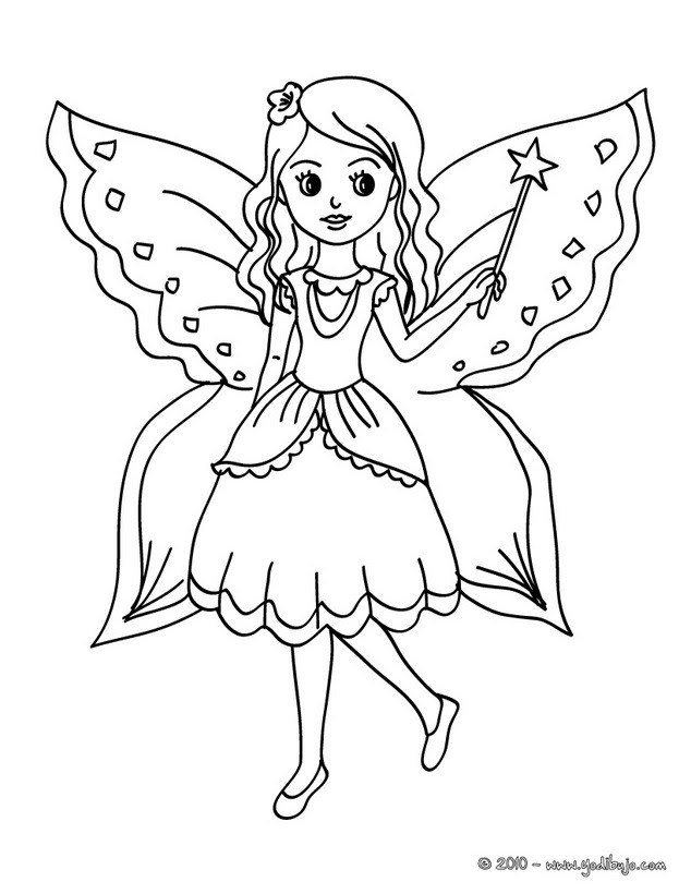 Dibujos Para Colorear Hadas 43 Dibujos De Fantasía Para Colorear